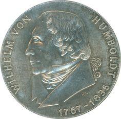 1967, 20 M. Wilhelm v. Humboldt, mit Randinschrift des 20 Mark St. K. Marx, Patina, Aufl. ca. 5.000 St., vz    Dealer  Hettinger Auctions    Auction  Minimum Bid:  70.00EUR
