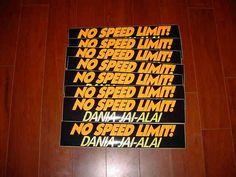 1990 Dania Jai Alai Bumper Stickers | eBay