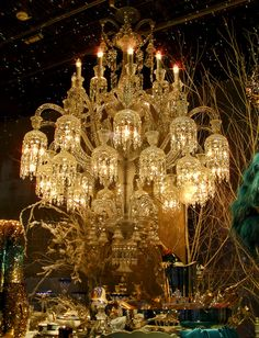 "Christmas window display, Paris  ""Le Printemps"""