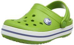 crocs Crocband Clog Kids, Unisex-Kinder Clogs, Grau (Graphite/Volt Green), 24/25 EU