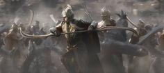 Mirkwood elf warrior with polearm