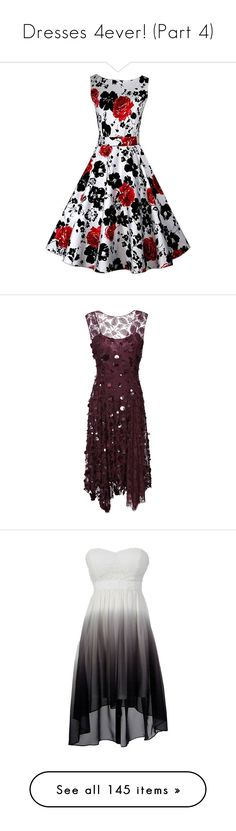 """""""Dresses 4ever! (Part 4)"""" by burpingflower ❤ liked on Polyvore featuring dresses, vestidos curtos, cocktail party dress, white cocktail dresses, night out dresses, garden party dresses, party dresses, floral embroidered dress, floral dresses and sequin dresses"""