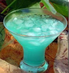 Azure lagoon cocktail is excellent light mixed drink with Blue Curacao liqueur and fruit juices.