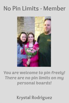 No Pin Limits - Member: Krystal Rodriguez - Visit profiles here: http://www.pinterest.com/krystalkm8 http://www.pinterest.com/krystal_7