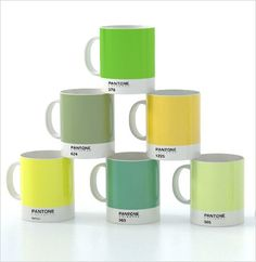 Picture of Pantone Mugs collection green