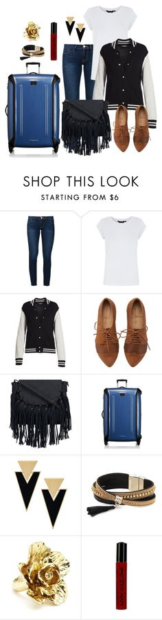 """Sem título #2364"" by carpe-diem96 ❤ liked on Polyvore featuring Frame, Marc Jacobs, Tumi, Yves Saint Laurent, Simons, Oscar de la Renta and NYX"