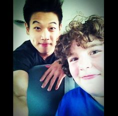 The Maze Runner. Chuck (Blake Cooper) and Minho (Ki Hong Lee). :)