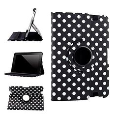 "myLife Raven Black and Swan White {Polka Dots Scattered Dots Vintage Speckles} 360 Degree Rotating Case for Amazon Kindle Fire 8.9 HDX (High Quality Koskin Faux Leather Cover + Slim Lightweight Design) ""All Ports Accessible"" myLife Brand Products http://www.amazon.com/dp/B00TOZDL1C/ref=cm_sw_r_pi_dp_PE2avb0VQZ5MZ"