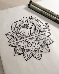 Use this concept for forearms- flower for wedding anniversary month on left, mandala for Ushome on right