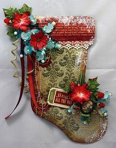 christmas stocking card..wow