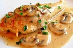 Pollo al Horno en Salsa de Hongos Pollo Al Champignon, Sauce Mousseline, Pollo Asado, Couscous, Thermomix, Web Social, Thai Red Curry, Quinoa, Parrilla