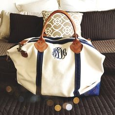 Monogrammed Sunshine Satchel Duffel Bag