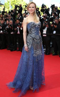 I am drawn to this dress!  Nicole Kidman in Armani Prive at the 'Grace of Monaco'  premiere at Cannes 2014