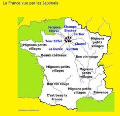 Carte de France vue par les étrangers Rage, Teaching French, 21st Century, Geography, Fun Facts, Funny Quotes, Funny Pictures, Jokes, Lol