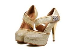 Wholesale Wedding Women's Pumps With Sexy Gold High Heels and Sequins Design (GOLD,39), Pumps - Rosewholesale.com