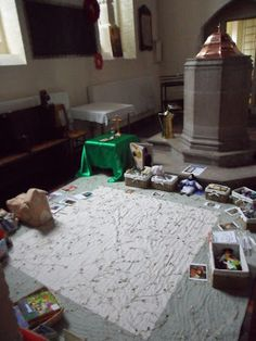 Margaret's first Pray and Play area at St. George's in London - it was later moved and changed a bit, but this gives the general idea. Godly Play, St George's, Community Space, Worship, Prayers, Blog, Spaces, London, Live