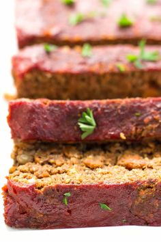 The BEST DAMN vegan meatloaf made with quinoa, lentils, walnuts and mushrooms -- the perfect meatless meal that even meat-eaters will love!