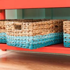 Painted Baskets  Give an ordinary woven basket a facelift with paint. It's an easy project that lets you organize craft supplies or other odds and ends in style.
