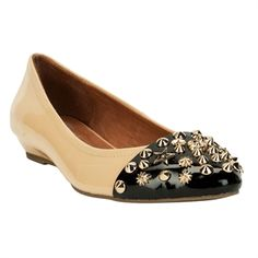 Jeffrey Campbell Selby Studded Ballet Flat #VonMaur #Shoes #Studs #Nude