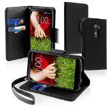 awesome myLife Berry Black {Modern Design) Faux Leather (Multipurpose – Card, Cash and ID Holder + Magnetic Closing) Folio Slimfold Wallet for the LG G2 Smartphone (External Textured Synthetic Leather with Magnetic Clip + Internal Secure Snap In Closure Hard Rubberized Bumper Holder)