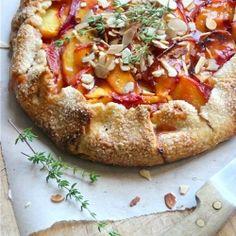 Peach free-form Tart -- perfect for summer al fresco dining!
