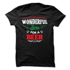 Its the most wonderful time for a beer T Shirts, Hoodies. Get it now ==► https://www.sunfrog.com/Holidays/Its-the-most-wonderful-time-for-a-beer.html?57074 $19