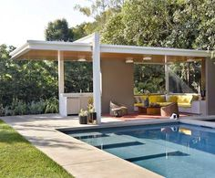 Pool houses that echo the main house  = design perfection