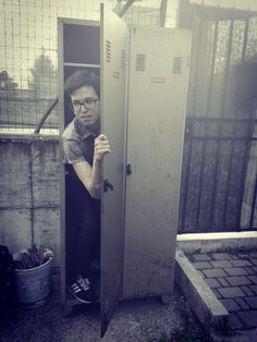 Locker Dwight is in the locker