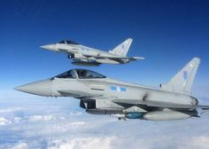 Royal Air Force Typhoon Aircraft from 6 squadron