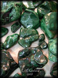 MALACHITE for ridding negative energy.  Helps heart and tooth ailments!  It works!