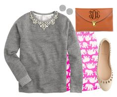 """""""Happy birthday Lilly Pulitzer!"""" by margaretinmotion ❤ liked on Polyvore featuring J.Crew and Karen Kane"""
