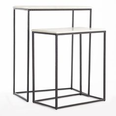 Marble Nesting Side Tables - Set of 2