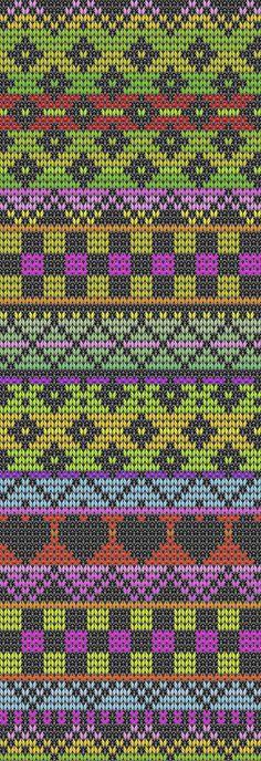 Подбор цветовой гаммы для вязания жаккардового узора Tapestry Crochet Patterns, Fair Isle Knitting Patterns, Fair Isle Pattern, Knitting Charts, Knitting Stitches, Knit Patterns, Stitch Patterns, Fair Isle Chart, Crochet Chart
