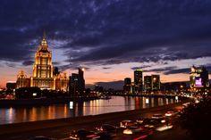 ночь, город, пейзаж