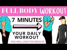 FULL BODY WORKOUT - 7 MINUTE WORKOUT FOR WEIGHT LOSS - BELLY FAT WORKOUT BY LUCY WYNDHAM-READ - YouTube