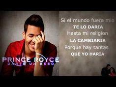 ▶ Prince Royce - Darte un beso (Lyric) - YouTube