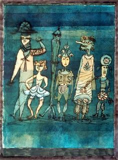 Paul Klee ~ Masken, 1923. In a period of artistic revolutions and innovations, few artists were as crucial as Paul Klee. His studies of color, widely taught at the Bauhaus, are unique among all the artists of his time.