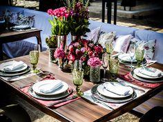 Detalhe-mesa de convidados-Decoração rústica floral