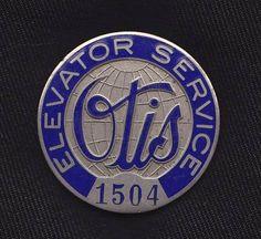 Otis Elevator Service Employee Badge