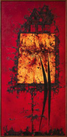 Mikuláš Medek - Opilý svatý (1966) Surrealism, Painting Art, Bohemia, 19th Century, Pintura, Red, Painting, Paintings, Bohemian