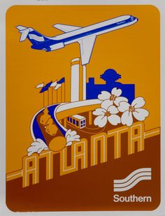 Airline travel Poster, Southern Airways,