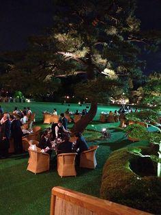 The Beautiful Japanese Beer garden at Meiji memorial Hall's in Tokyo
