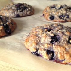 Cookie Desserts, Cookie Recipes, Dessert Recipes, Healthy Baking, Healthy Snacks, Biscuits, Confort Food, Recipes With Whipping Cream, Blueberry Recipes