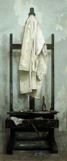 """GIOVANNI MARZIANO """"Libera nos a malo"""" olio su tela - cm 90x210 - 2007"""