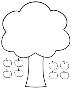 This page allows kids to practice cutting and pasting the apples on to apple tree Also great coloring sheet apple Apple tree cut and paste Diy Quiet Books, Baby Quiet Book, Felt Quiet Books, Quiet Book Templates, Tree Templates, Applique Templates, Applique Patterns, Felt Board Patterns, Tree Patterns