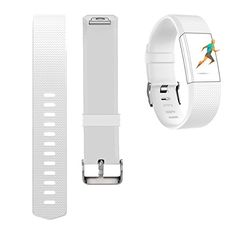 White & Large ;) For Fitbit Charge 2 Bands,CreatGreat Silicone Replacement...