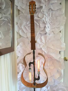 Rustic Guitar Lamp by THDesignStore on Etsy