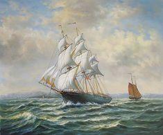 Sailing Ship Paintings | sail ship warship jalor a n sailing boat lover paintings