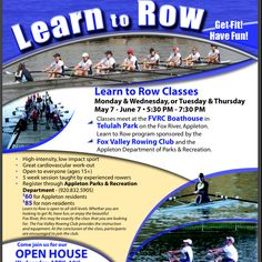FVRC is hosting an open house later this month and Learn To Row starts May 7. Sign up I ur interested in the awesome sport of rowing :-)