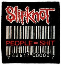 Slipknot Barcode Logo Rock Music Embroidered Iron by CoolPatches, $5.99